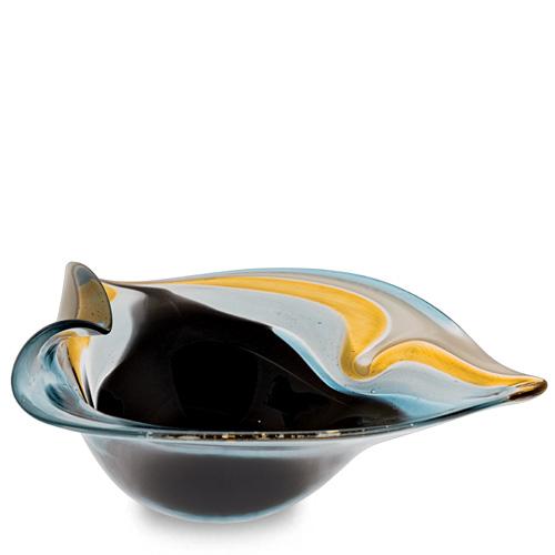 Corvo Miniature Leaf Bowl Malta,Glass Corvo Malta, Glass Corvo, Mdina Glass