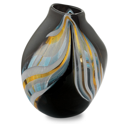 Corvo Medium Double Swirl Vase Malta,Glass Corvo Malta, Glass Corvo, Mdina Glass