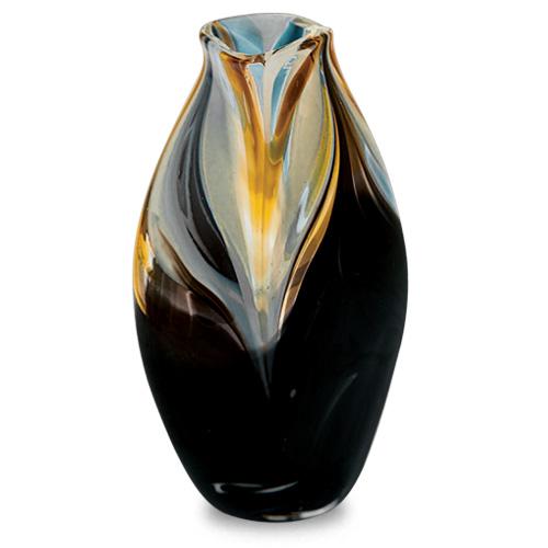 Corvo Miniature Tall Double Swirl Vase Malta,Glass Corvo Malta, Glass Corvo, Mdina Glass
