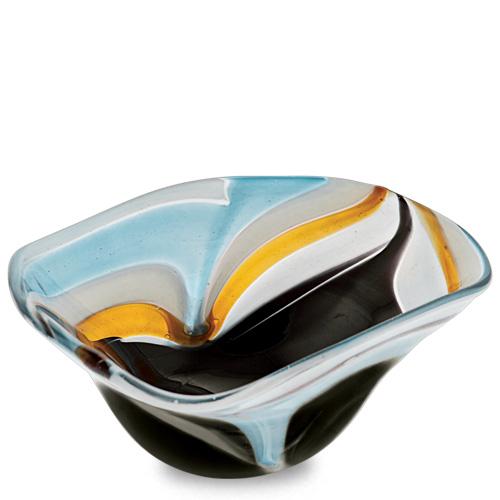 Corvo Miniature Tri Bowl Malta,Glass Corvo Malta, Glass Corvo, Mdina Glass