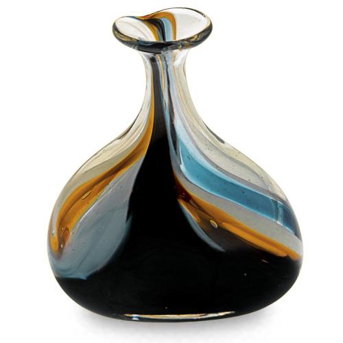 Corvo Miniature Tri Vase Malta,Glass Corvo Malta, Glass Corvo, Mdina Glass