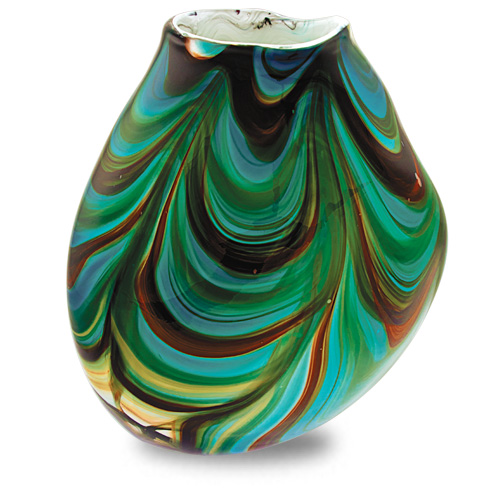 Germeno Large Double Swirl Vase Malta,Glass Germeno Malta, Glass Germeno, Mdina Glass