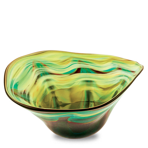 Germeno Medium Moon Bowl Malta,Glass Germeno Malta, Glass Germeno, Mdina Glass