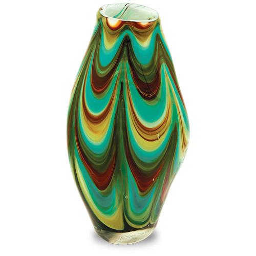 Germeno Medium Tall Double Swirl Vase Malta,Glass Germeno Malta, Glass Germeno, Mdina Glass
