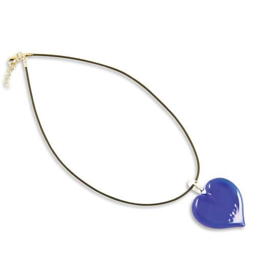 Malta,  Malta, Heart Pendant Dark Blue Malta, Valentine's Malta, Mdina Glass Malta
