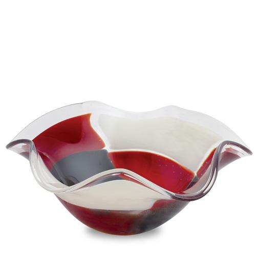 Red Mosaico Medium Star Bowl Malta,Glass Red Mosaico Malta, Glass Red Mosaico, Mdina Glass