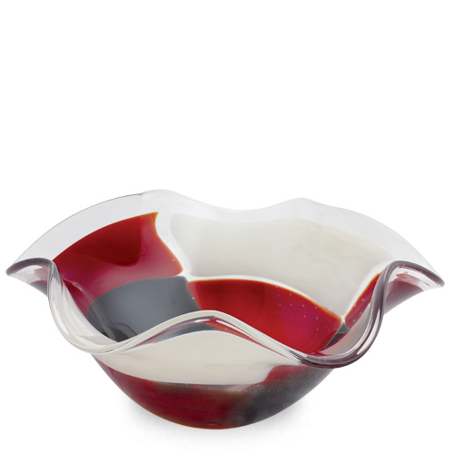 Red Mosaico Large Star Bowl Malta,Glass Red Mosaico Malta, Glass Red Mosaico, Mdina Glass