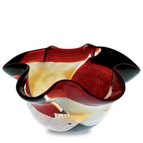 Red Mosaico Miniature Star Bowl Malta,Glass Red Mosaico Malta, Glass Red Mosaico, Mdina Glass