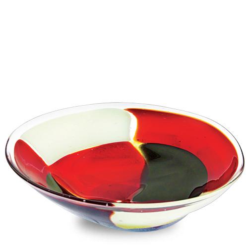 Red Mosaico Medium Orbit Bowl Malta,Glass Red Mosaico Malta, Glass Red Mosaico, Mdina Glass