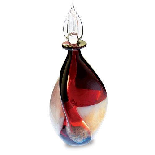 Red Mosaico Miniature Triple Swirl Perfume Malta,Glass Perfume Bottles Malta, Glass Perfume Bottles, Mdina Glass