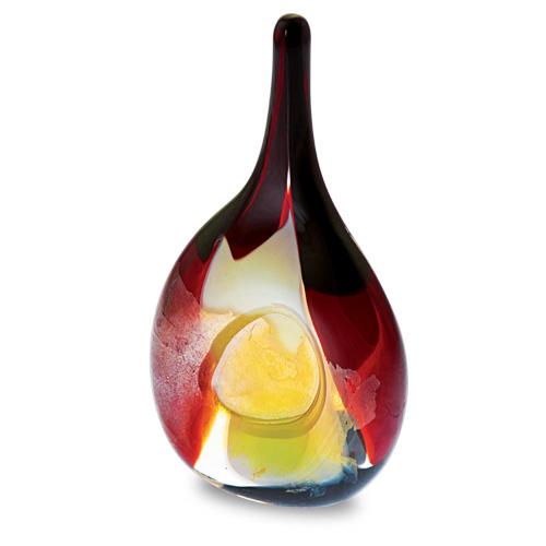 Red Mosaico Miniature Flat Centre Vase Malta,Glass Vases Malta, Glass Vases, Mdina Glass
