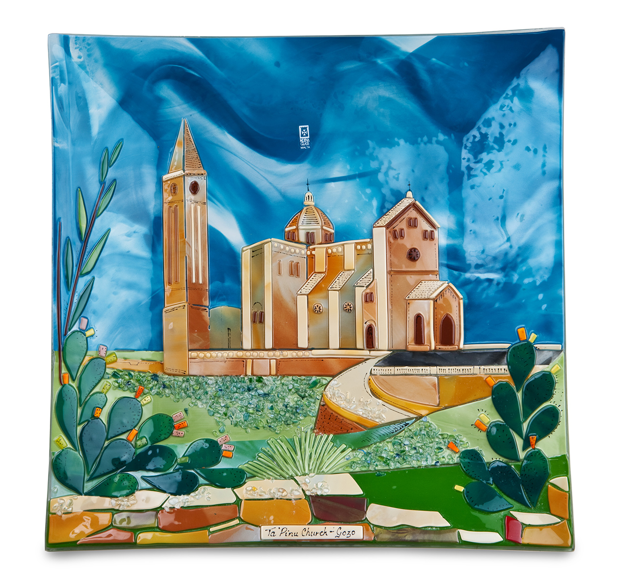 Ta' Pinu Scene (28cm) Malta,Glass Pictures & Scenes Malta, Glass Pictures & Scenes, Mdina Glass