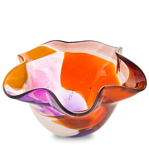 Naia Miniature Star Bowl Malta,Glass Naia Malta, Glass Naia, Mdina Glass