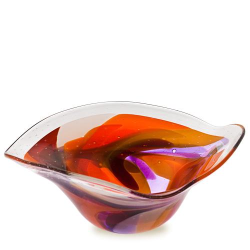Naia Large Tri Bowl Malta,Glass Naia Malta, Glass Naia, Mdina Glass