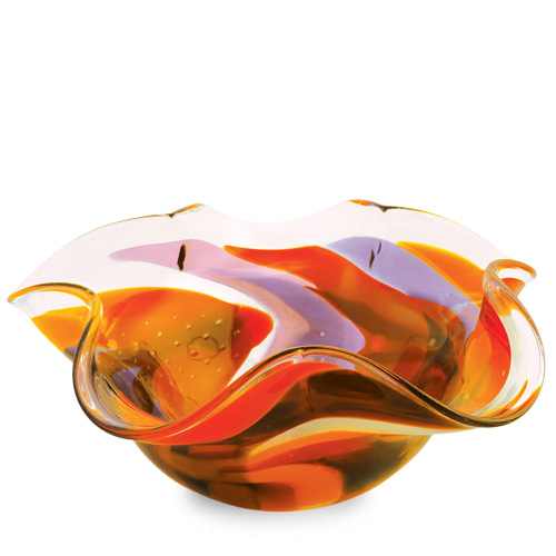 Naia Large Star Bowl Malta,Glass Naia Malta, Glass Naia, Mdina Glass
