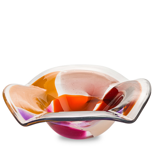 Naia Miniature Flat Side Ashtray Malta,Glass Contemporary Range Malta, Glass Contemporary Range, Mdina Glass