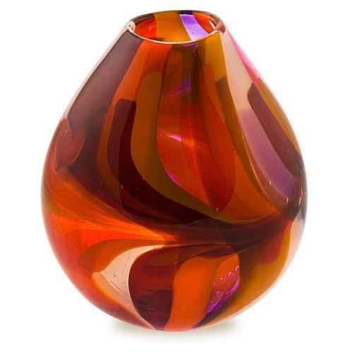 Naia Medium Dimi Vase Malta,Glass Naia Malta, Glass Naia, Mdina Glass