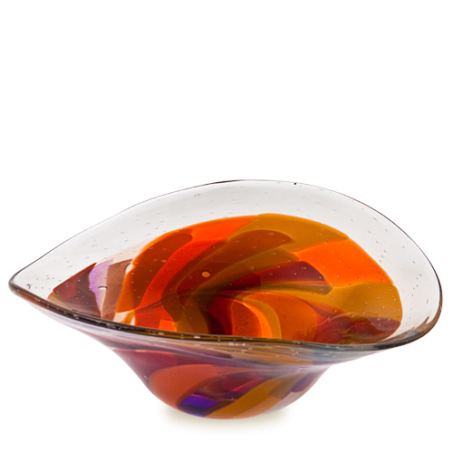 Naia Large Moon Bowl Malta,Glass Naia Malta, Glass Naia, Mdina Glass