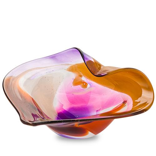 Naia Miniature Leaf Bowl Malta,Glass Naia Malta, Glass Naia, Mdina Glass