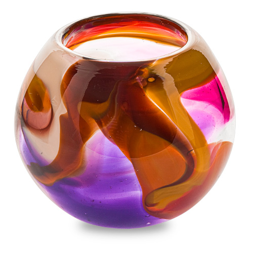 Naia Small Round Candleholder Malta,Glass Naia Malta, Glass Naia, Mdina Glass