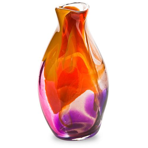 Naia Miniature Tall Double Swirl Vase Malta,Glass Naia Malta, Glass Naia, Mdina Glass