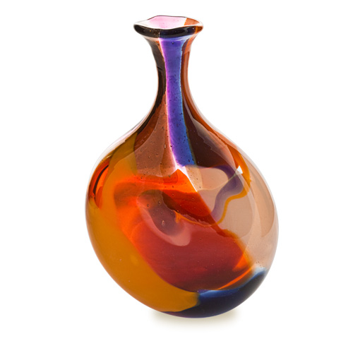 Naia Miniature Lollipop Bottle Vase Malta,Glass Naia Malta, Glass Naia, Mdina Glass
