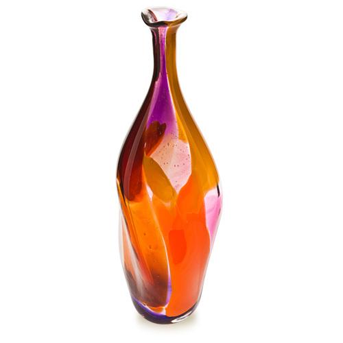 Naia Miniature Triple Swirl Bottle Vase Malta,Glass Naia Malta, Glass Naia, Mdina Glass