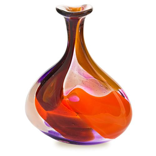 Naia Miniature Tri Vase Malta,Glass Naia Malta, Glass Naia, Mdina Glass