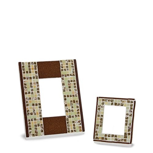 Brown & Gold Greek Frame (14x12cm) Malta,Glass Picture Frames Malta, Glass Picture Frames, Mdina Glass