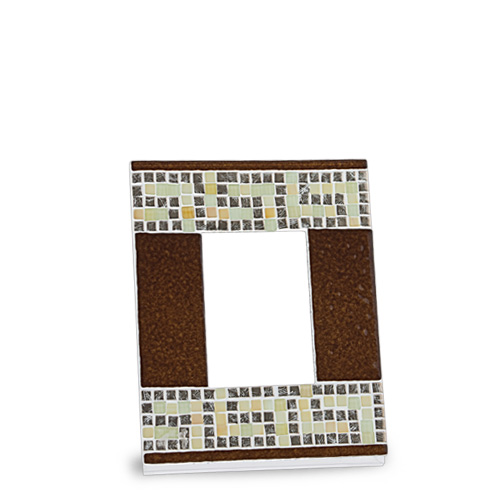 Brown & Silver Greek Frame (14x12cm) Malta,Glass Picture Frames Malta, Glass Picture Frames, Mdina Glass