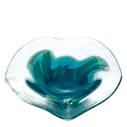 Rough Seas Miniature Flat Side Ashtray Malta,Glass Contemporary Range Malta, Glass Contemporary Range, Mdina Glass