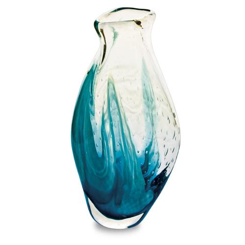Rough Seas Miniature Tall Double Swirl Vase Malta,Glass Vases Malta, Glass Vases, Mdina Glass