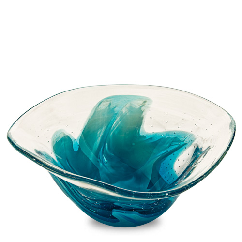 Rough Seas Miniature Tri Bowl Malta,Glass Decorative Bowls Malta, Glass Decorative Bowls, Mdina Glass