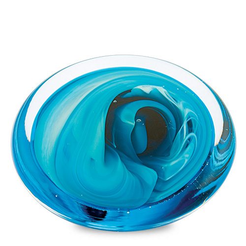 Round Flat Paperweight Malta,Glass Paperweights Malta, Glass Paperweights, Mdina Glass
