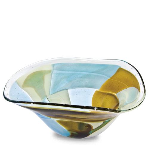 Vanilla Sky Medium Tri Bowl Malta,Glass Vanilla Sky Malta, Glass Vanilla Sky, Mdina Glass