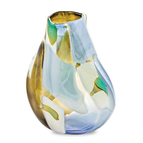 Vanilla Sky Medium Double Swirl Vase Malta,Glass Vanilla Sky Malta, Glass Vanilla Sky, Mdina Glass