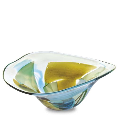Vanilla Sky Medium Moon Bowl Malta,Glass Vanilla Sky Malta, Glass Vanilla Sky, Mdina Glass