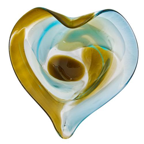 Vanilla Sky Miniature Leaf Bowl Malta,Glass Vanilla Sky Malta, Glass Vanilla Sky, Mdina Glass
