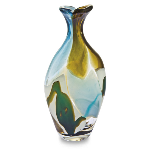 Vanilla Sky Miniature Flat Barrel Bottle Open Top Malta,Glass Vanilla Sky Malta, Glass Vanilla Sky, Mdina Glass