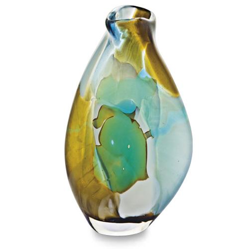 Vanilla Sky Miniature Tall Double Swirl Vase Malta,Glass Vanilla Sky Malta, Glass Vanilla Sky, Mdina Glass