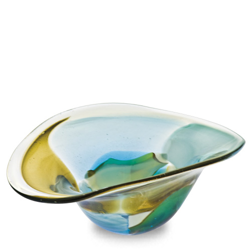 Vanilla Sky Miniature Moon Bowl Malta,Glass Vanilla Sky Malta, Glass Vanilla Sky, Mdina Glass