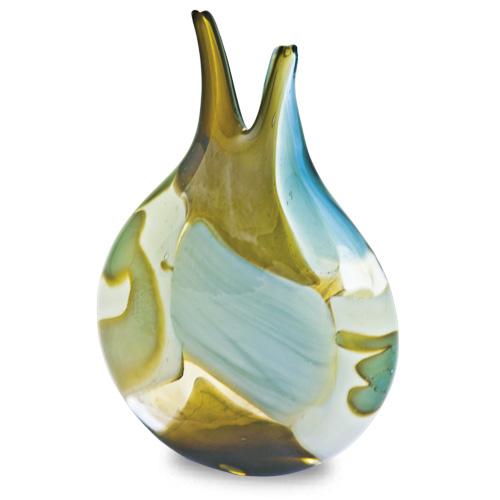 Vanilla Sky Miniature Double Neck Vase Malta,Glass Vases Malta, Glass Vases, Mdina Glass
