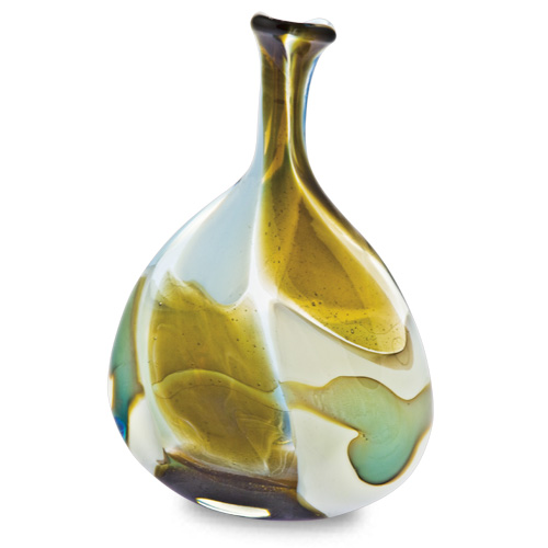 Vanilla Sky Miniature Tri Vase Malta,Glass Vanilla Sky Malta, Glass Vanilla Sky, Mdina Glass