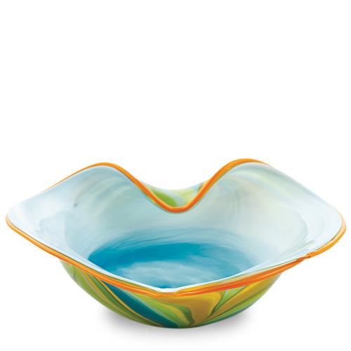 Vega Medium Leaf Bowl Malta,Glass Vega Malta, Glass Vega, Mdina Glass