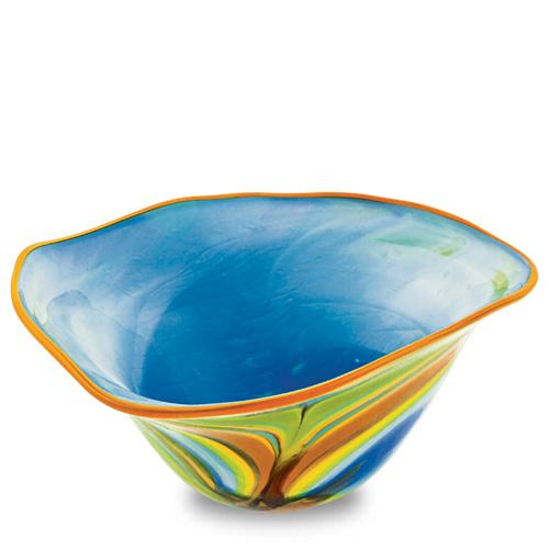 Vega Large Tri Bowl Malta,Glass Vega Malta, Glass Vega, Mdina Glass