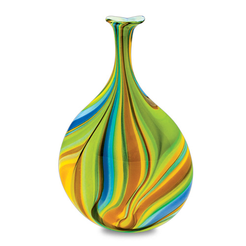 Vega Medium Lollipop Bottle Vase Malta,Glass Vega Malta, Glass Vega, Mdina Glass