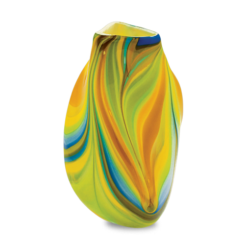 Vega Medium Triple Swirl Vase Malta,Glass Vega Malta, Glass Vega, Mdina Glass