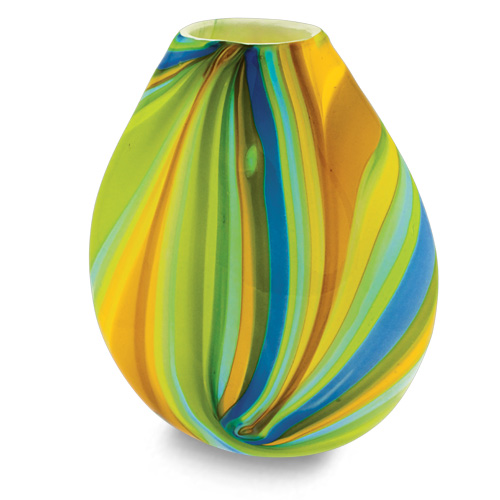 Vega Medium Dimi Vase Malta,Glass Vega Malta, Glass Vega, Mdina Glass