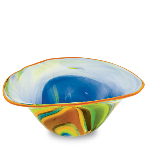 Vega Medium Moon Bowl Malta,Glass Vega Malta, Glass Vega, Mdina Glass