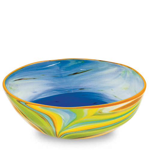 Vega Medium Orbit Bowl Malta,Glass Vega Malta, Glass Vega, Mdina Glass